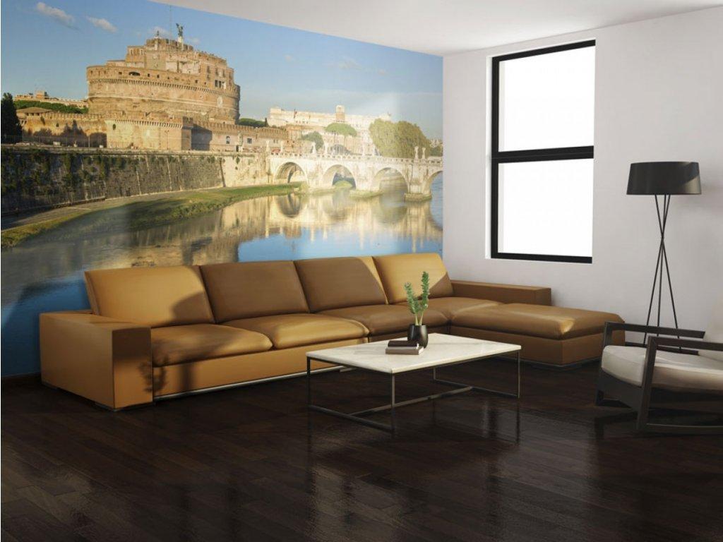 Fototapeta Andělský hrad v Římě (Rozměry (š x v) a Typ 147x116 cm - samolepící)