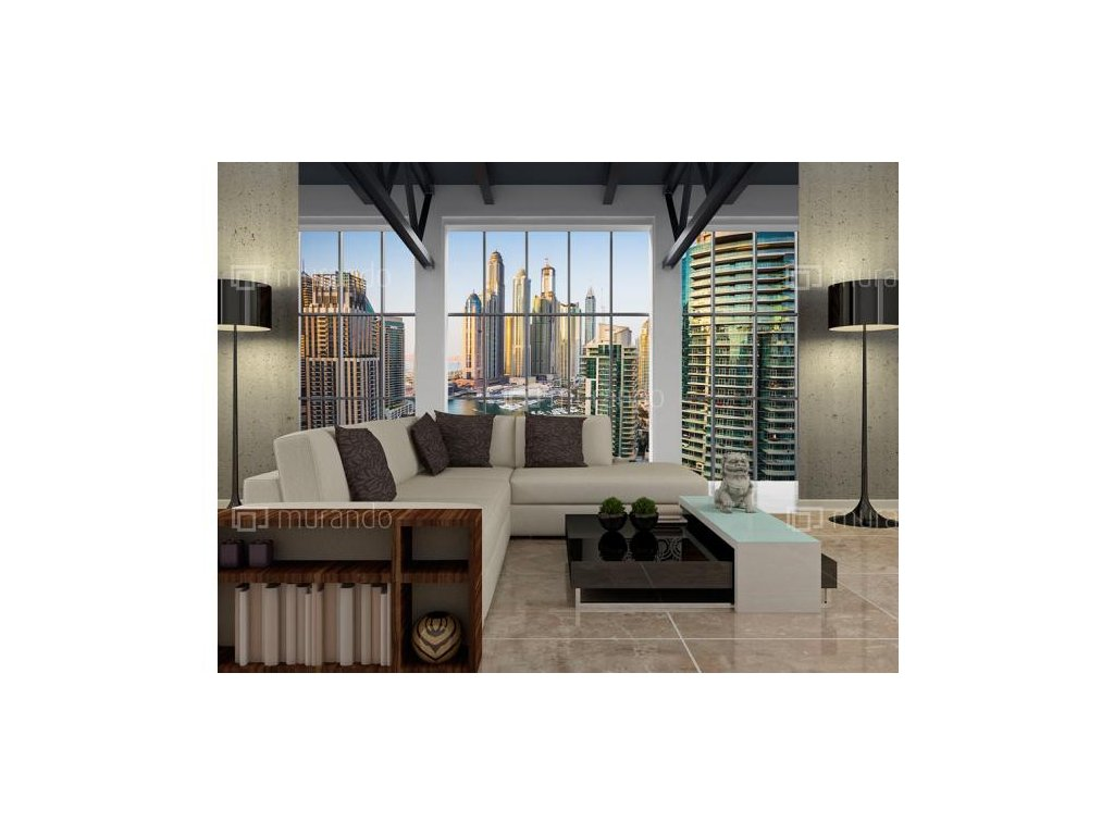 Fototapeta Dubaj za okny (Rozměry (š x v) a Typ 147x105 cm - samolepící)