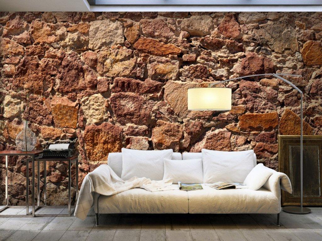 Fototapeta kamenná zeď (Rozměry (š x v) a Typ 147x105 cm - samolepící)