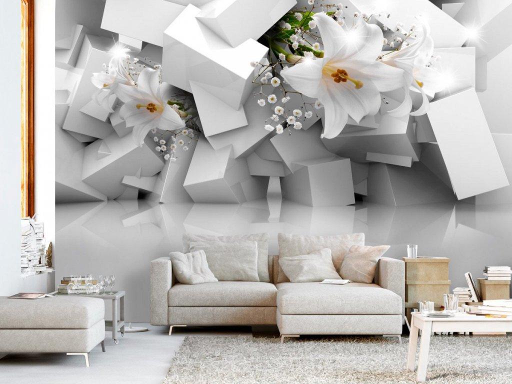 Fototapeta lilie v chaosu (Rozměry (š x v) a Typ 147x105 cm - samolepící)