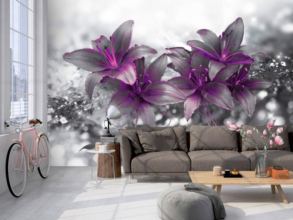 Fototapeta mrazivá lilie Purple (Rozměry (š x v) a Typ 147x105 cm - samolepící)