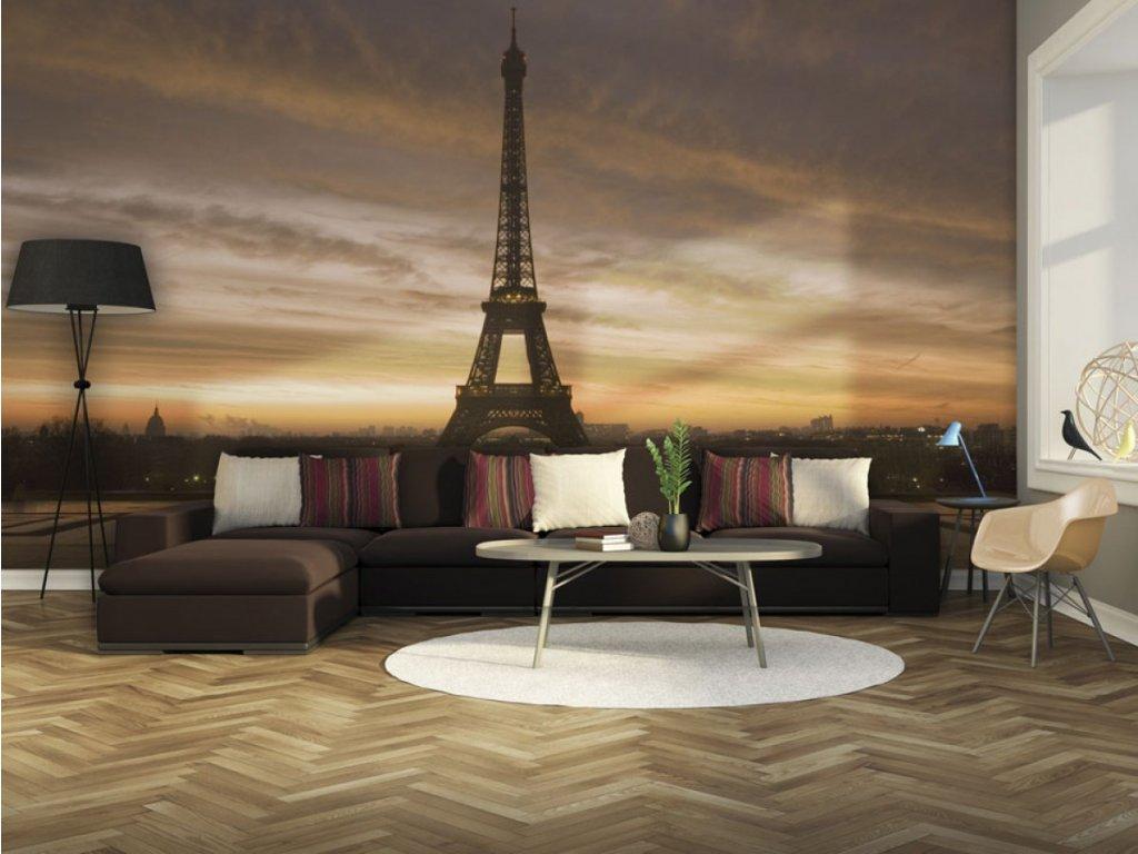 Fototapeta na stěnu - Eiffelova věž (Rozměry (š x v) a Typ 147x116 cm - samolepící)