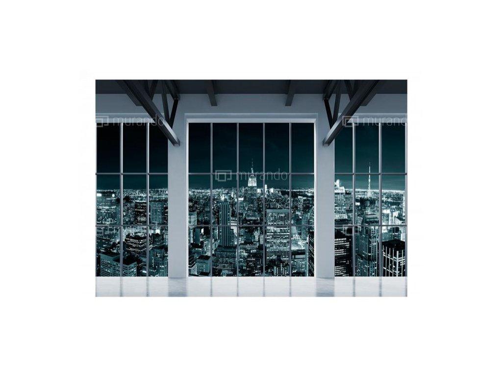 Fototapeta New York za okny (Rozměry (š x v) a Typ 147x105 cm - samolepící)