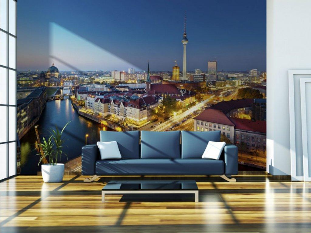 Fototapeta noční Berlín (Rozměry (š x v) a Typ 147x116 cm - samolepící)