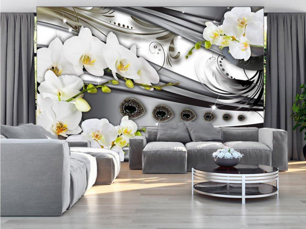 Fototapeta Orchidej a bižuterie (Rozměry (š x v) a Typ 147x105 cm - samolepící)