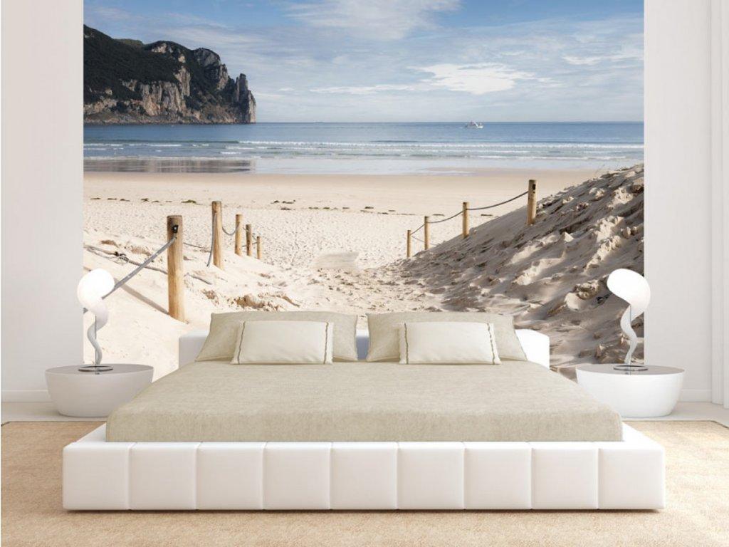 Fototapeta písečná pláž (Rozměry (š x v) a Typ 147x105 cm - samolepící)