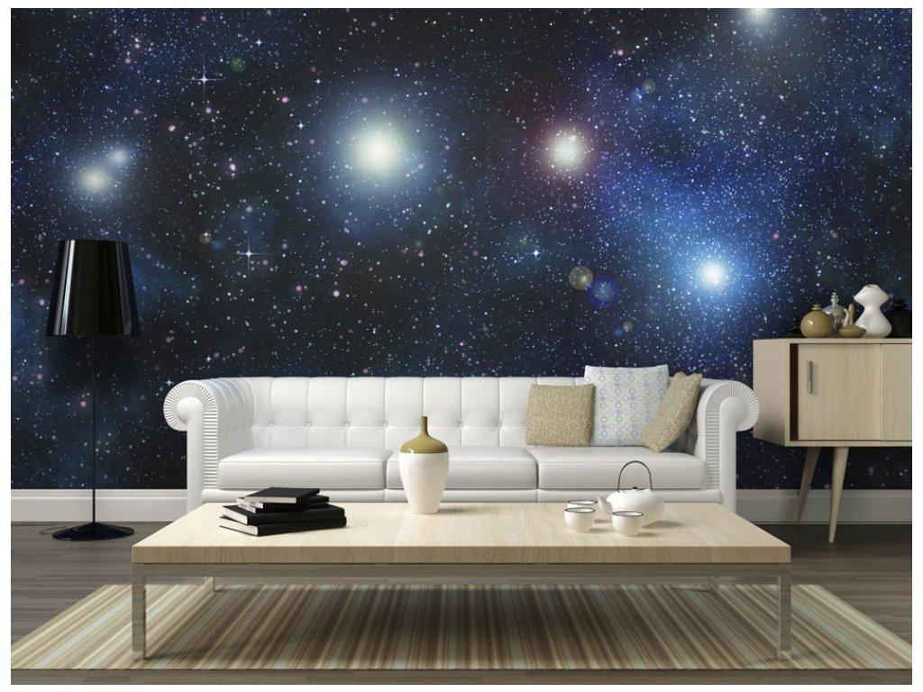 Galaxie hvězd (Rozměry (š x v) a Typ 147x116 cm - samolepící)