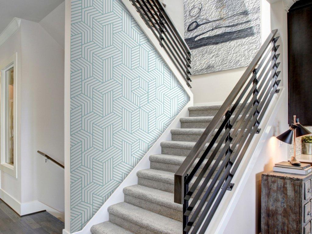 Geometrický labyrint (Klasické tapety 49x1000 cm - samolepicí)