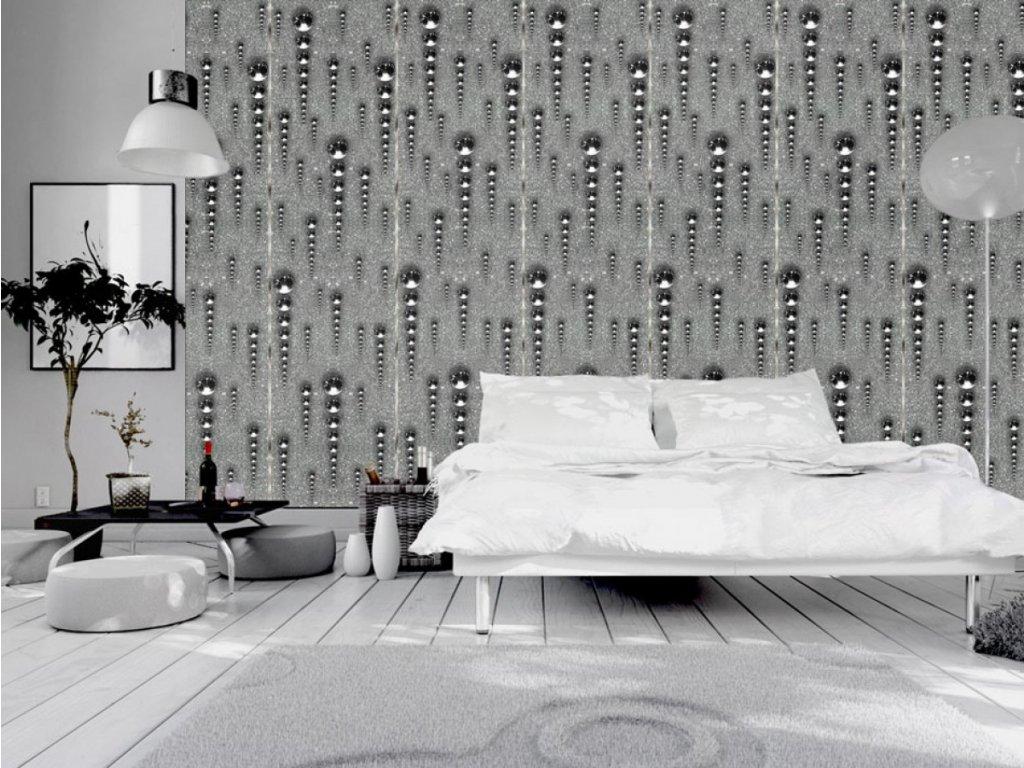 Grafitové rampouchy (Klasické tapety 49x1000 cm - samolepicí)