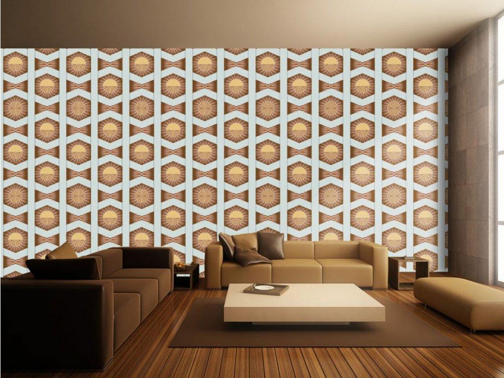 Hnědé slunce (Klasické tapety 49x1000 cm - samolepicí)