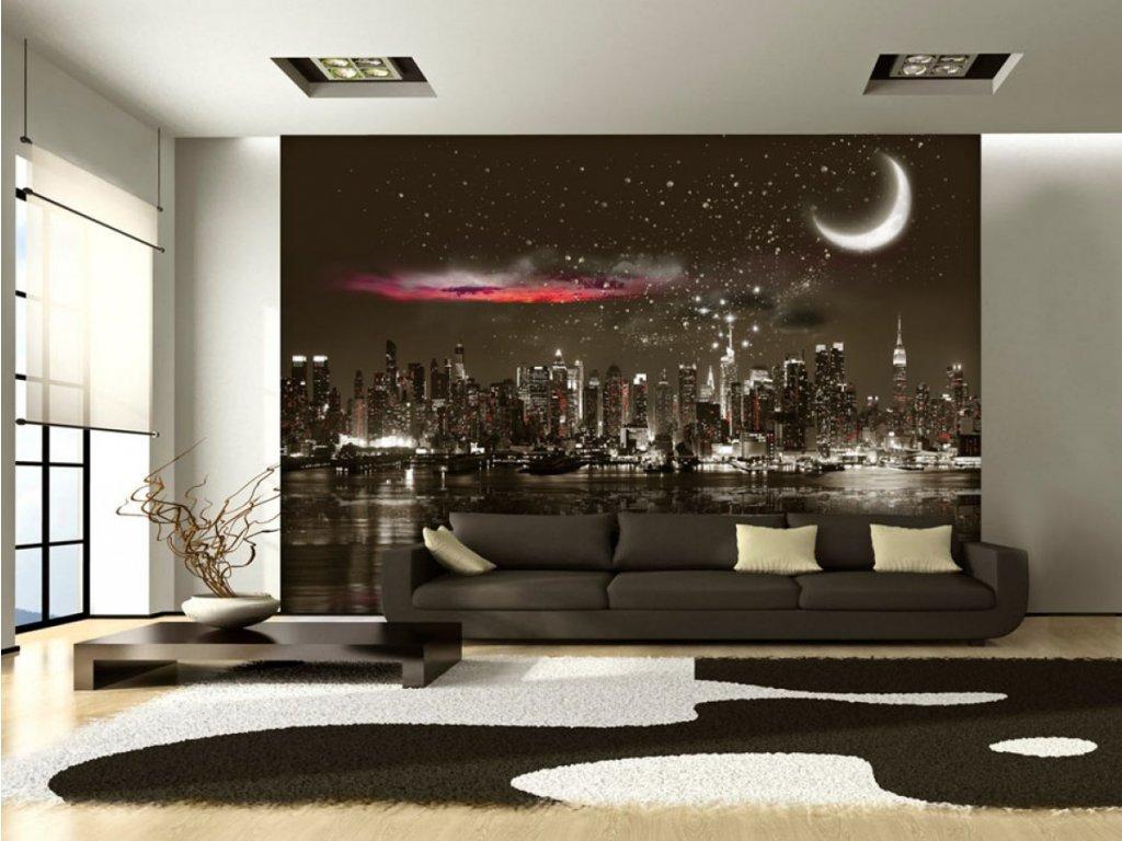 Hvězdná noc New York (Rozměry (š x v) a Typ 147x105 cm - samolepící)