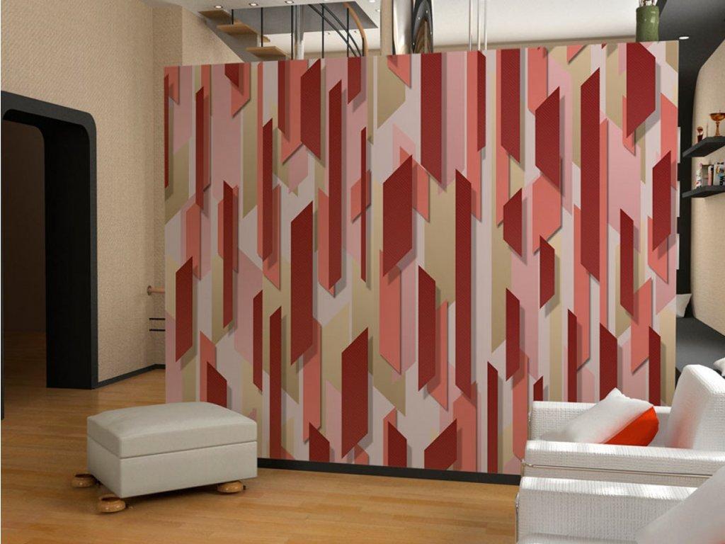 Jahodové pole (Klasické tapety 49x1000 cm - samolepicí)