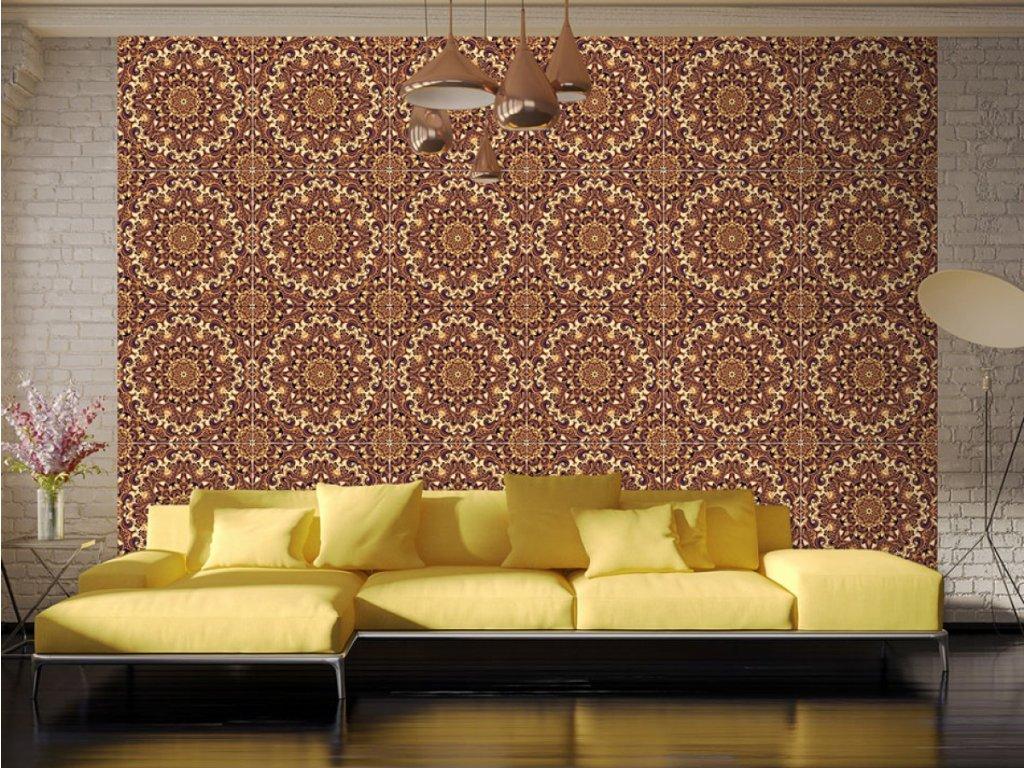 Jantarová mozaika (Klasické tapety 49x1000 cm - samolepicí)