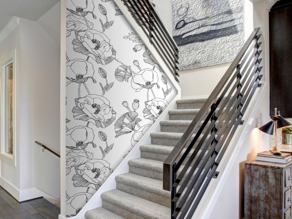 Jemné máky (Klasické tapety 49x1000 cm - samolepicí)