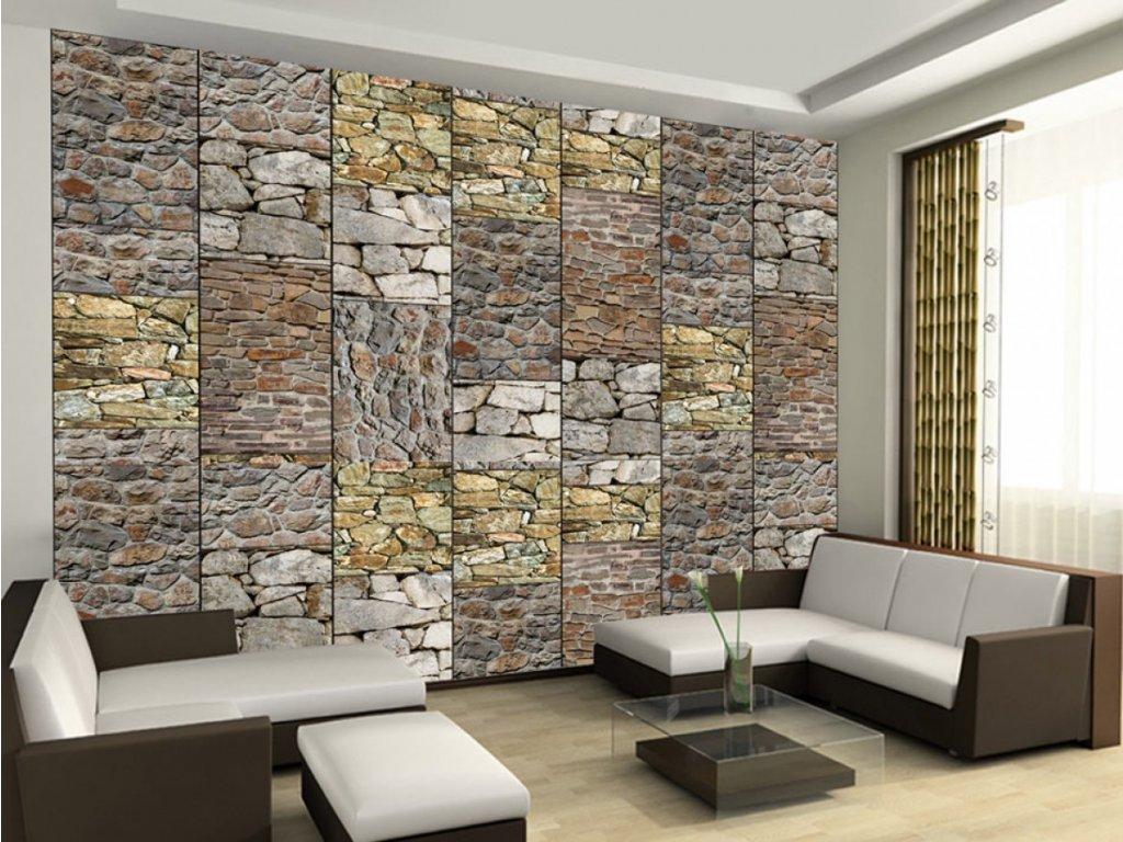 Kamenná skládanka (Klasické tapety 49x1000 cm - samolepicí)