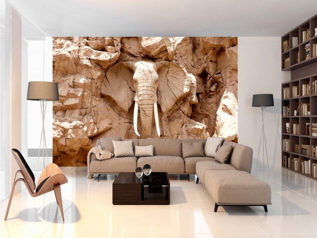 Kamenný slon (Rozměry (š x v) a Typ 147x105 cm - samolepící)