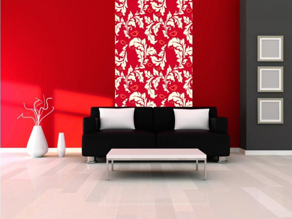 Karmínový podzim (Klasické tapety 49x1000 cm - samolepicí)