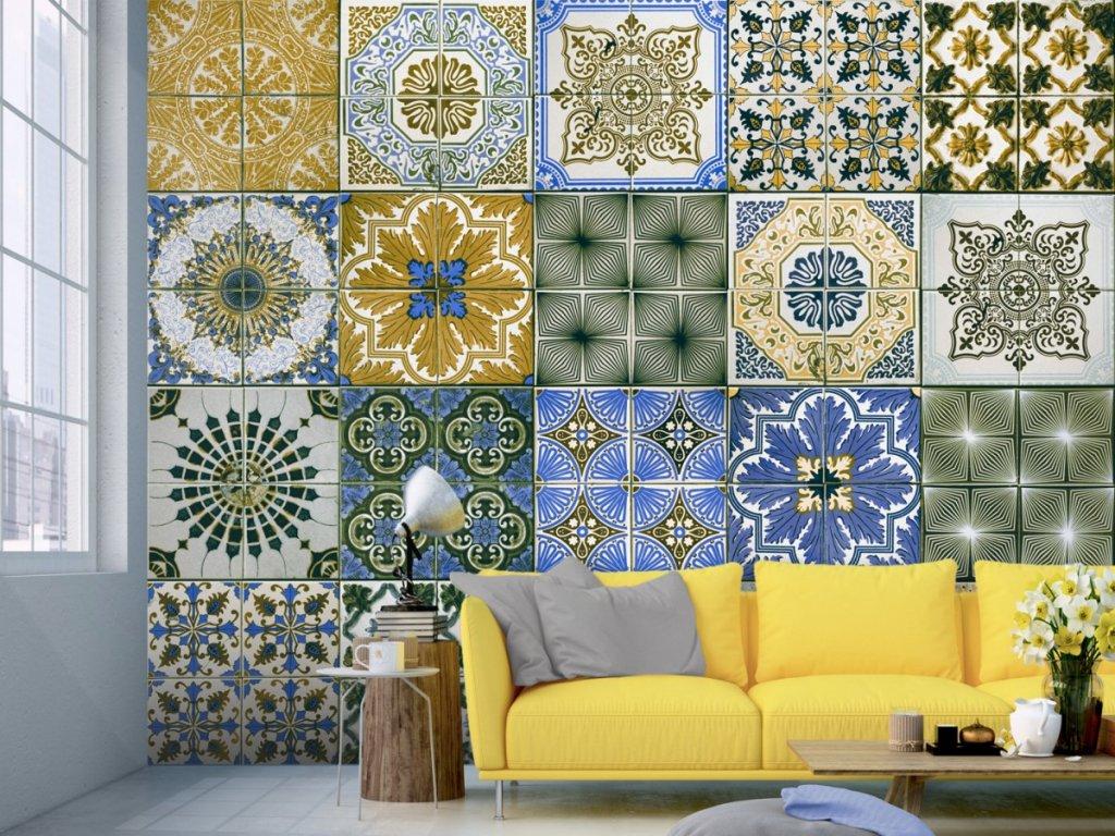 Keramická zahrada (Klasické tapety 49x1000 cm - samolepicí)