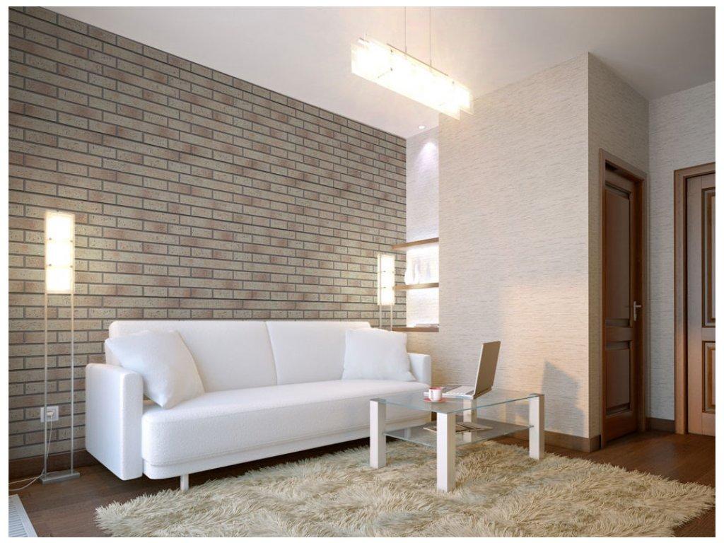 Klasická cihlová zeď (Klasické tapety 49x1000 cm - samolepicí)