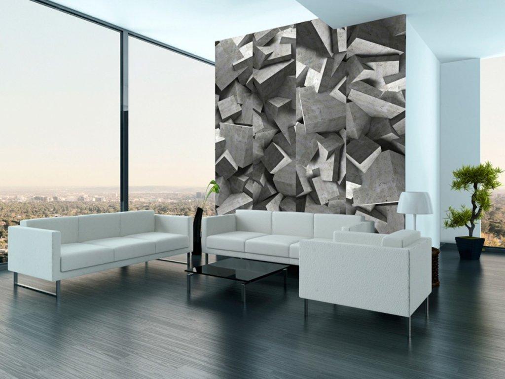 Konkrétní disharmonie (Klasické tapety 49x1000 cm - samolepicí)