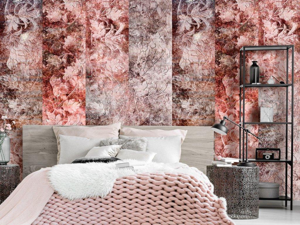 Korálová kytice (Klasické tapety 49x1000 cm - samolepicí)