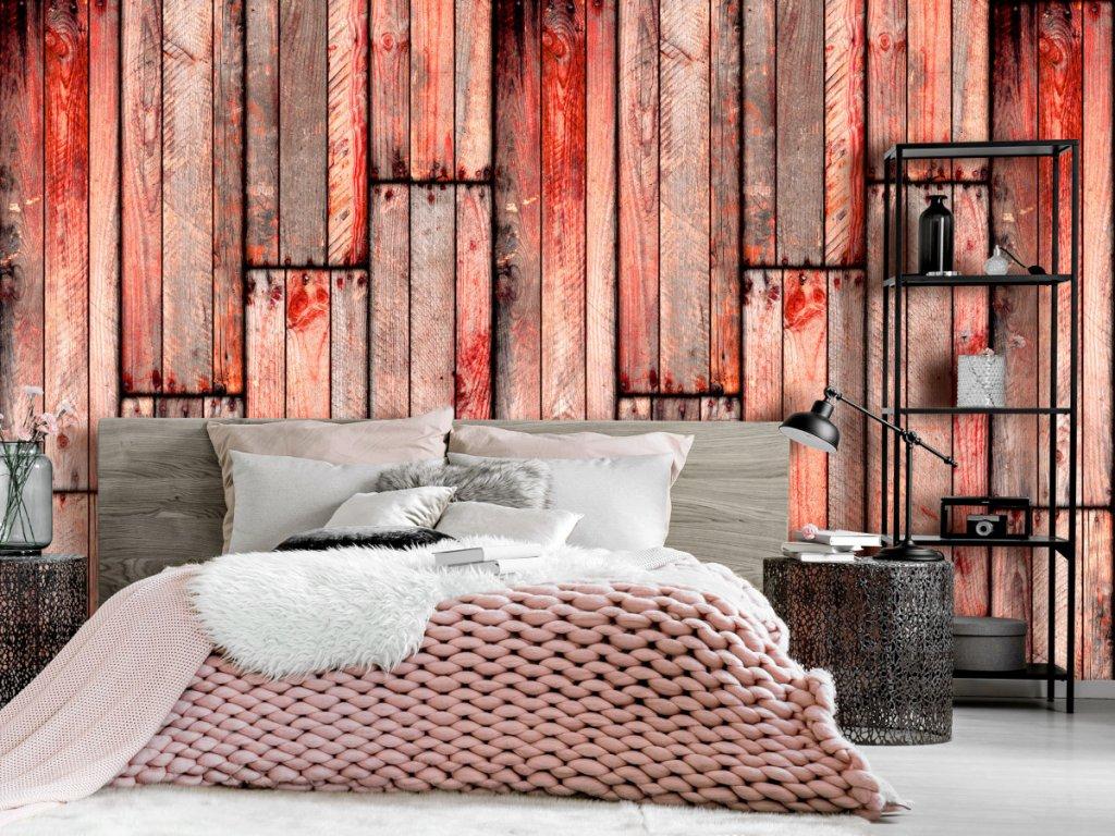Korálové dřevo (Klasické tapety 49x1000 cm - samolepicí)