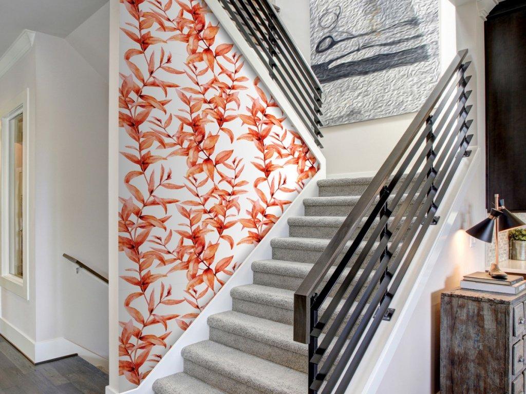Korálové listí (Klasické tapety 49x1000 cm - samolepicí)