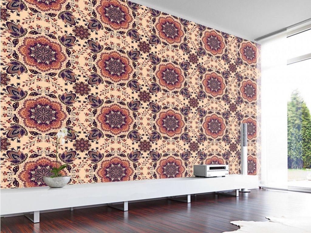Květinové pole (Klasické tapety 49x1000 cm - samolepicí)