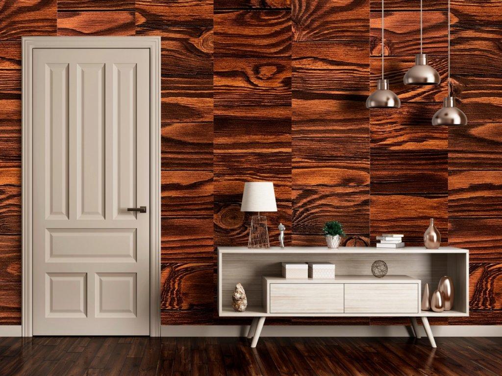 Lakované dřevo (Klasické tapety 49x1000 cm - samolepicí)