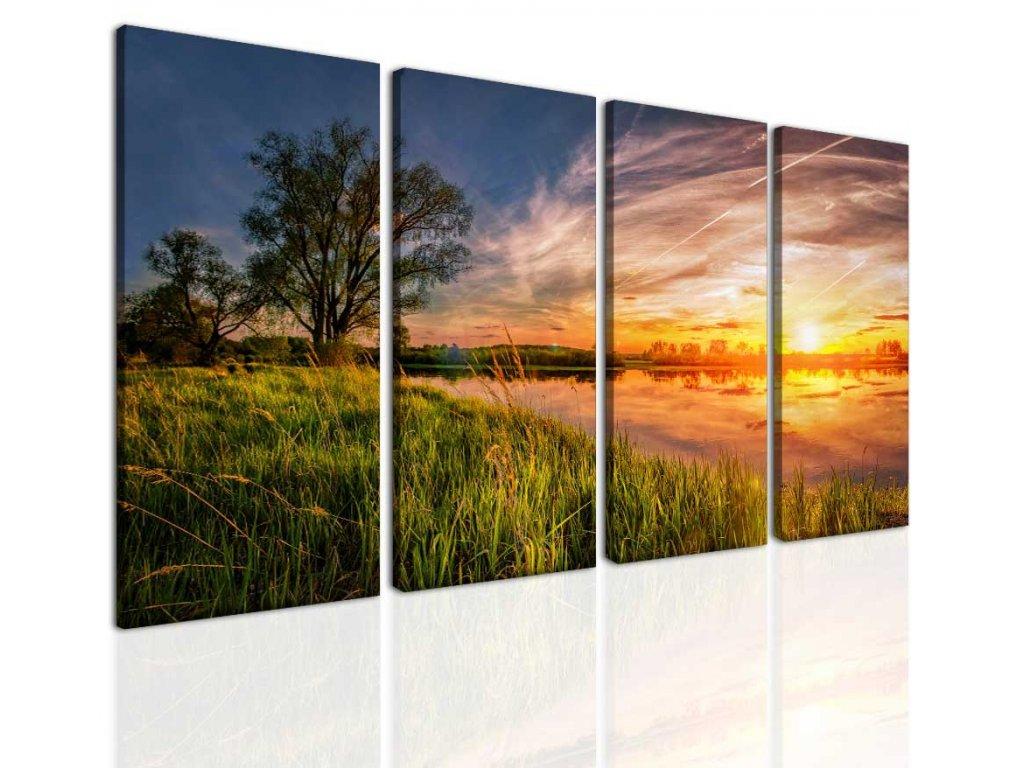 Letní západ slunce (Velikost 120x70 cm)