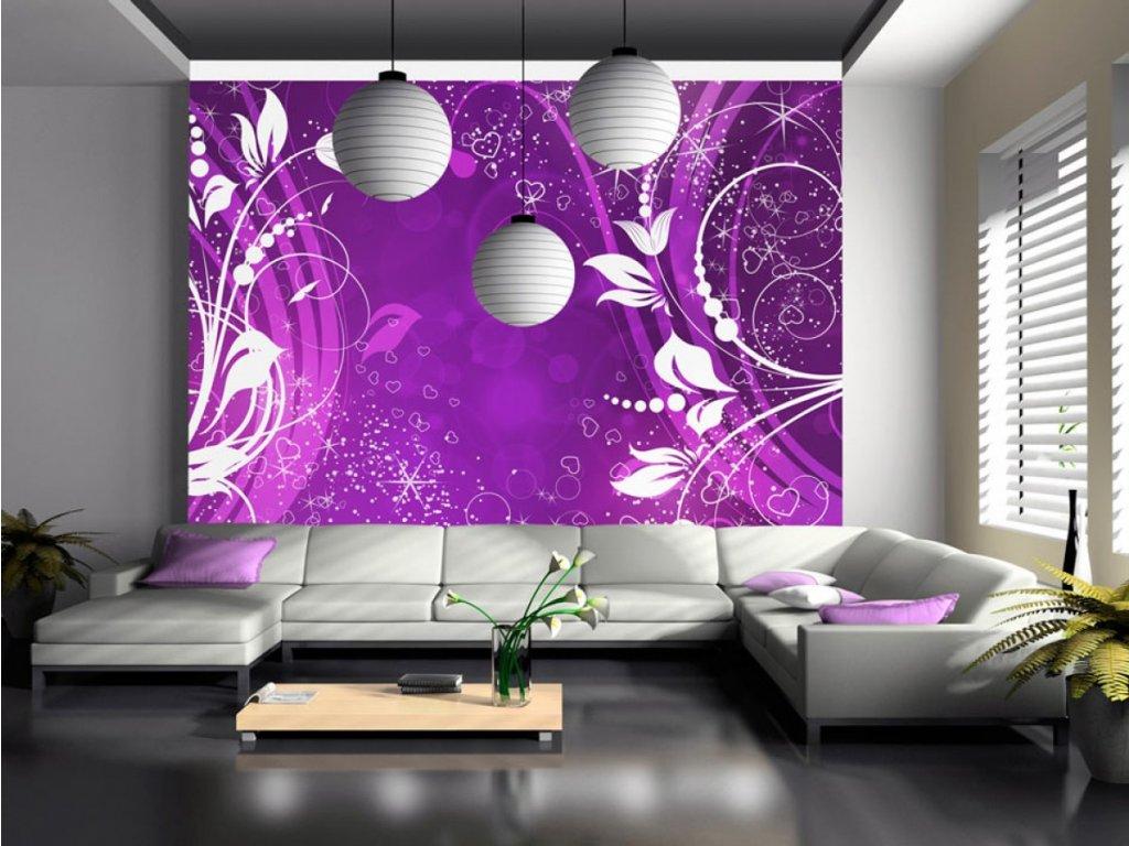 Magické ornamenty - purpurová (Rozměry (š x v) a Typ 147x105 cm - samolepící)