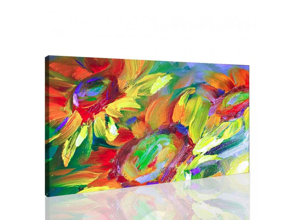 Malba slunečnice (Velikost 120x80 cm)