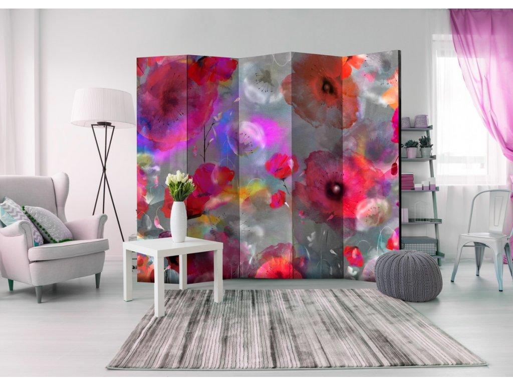Malované máky (Velikost (šířka x výška) 225x172 cm)