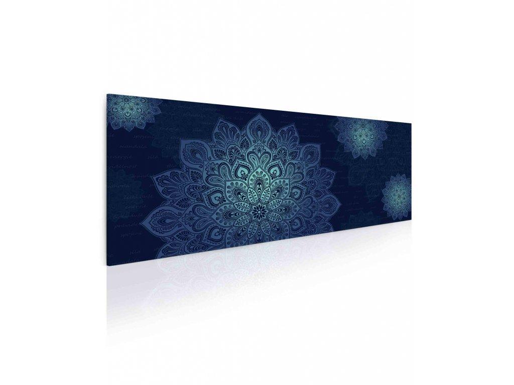 10101250 mandala modry obraz