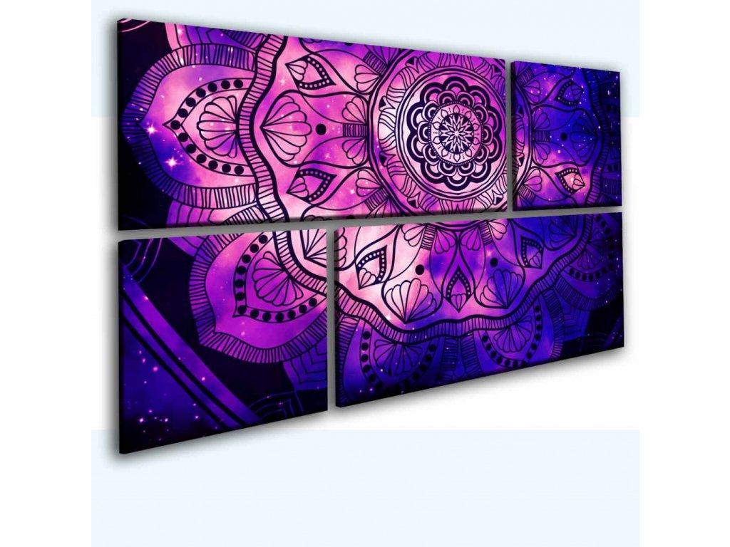 Mandala na nočním nebi (Velikost 145x90 cm)