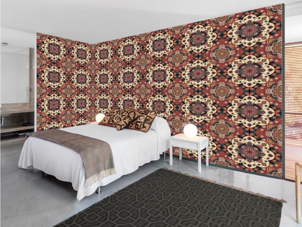 Mandalová stěna (Klasické tapety 49x1000 cm - samolepicí)