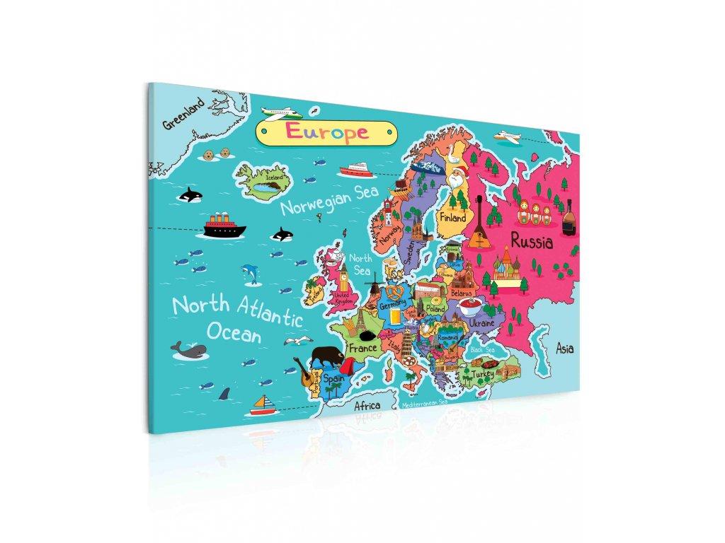 10101161 mapa evropy pro deti ll