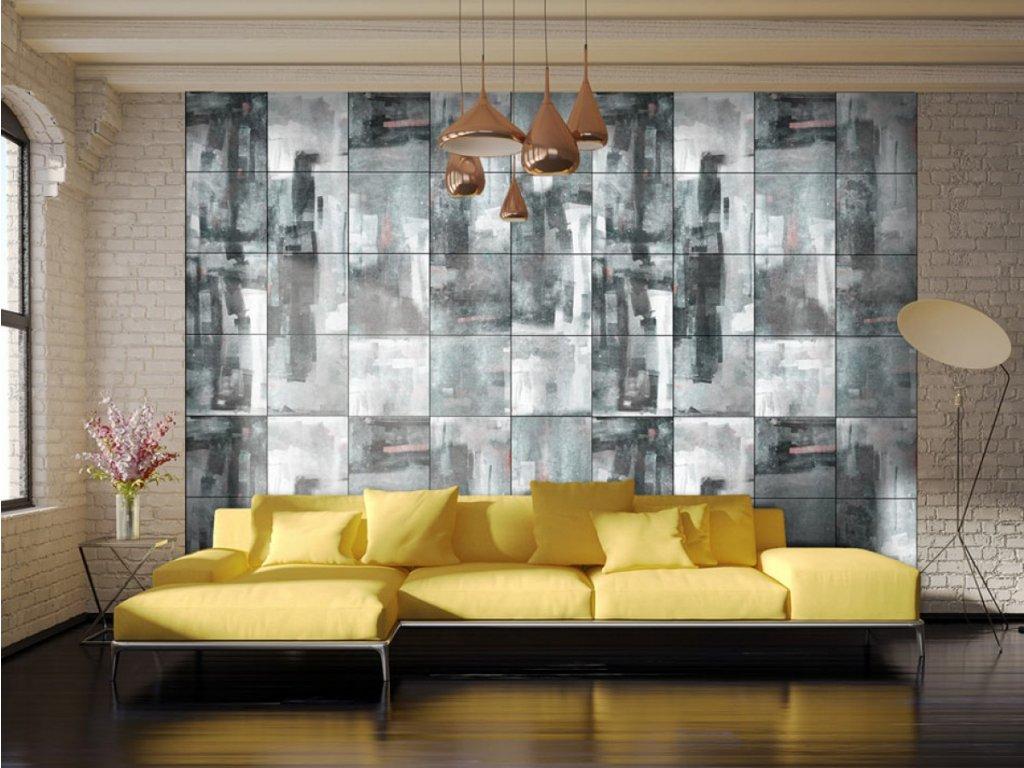 Město zahalené deštěm (Klasické tapety 49x1000 cm - samolepicí)
