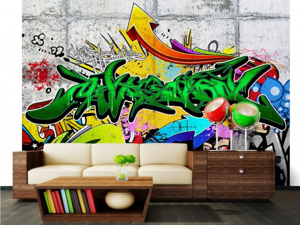 Městské graffiti tapeta (Rozměry (š x v) a Typ 147x105 cm - samolepící)
