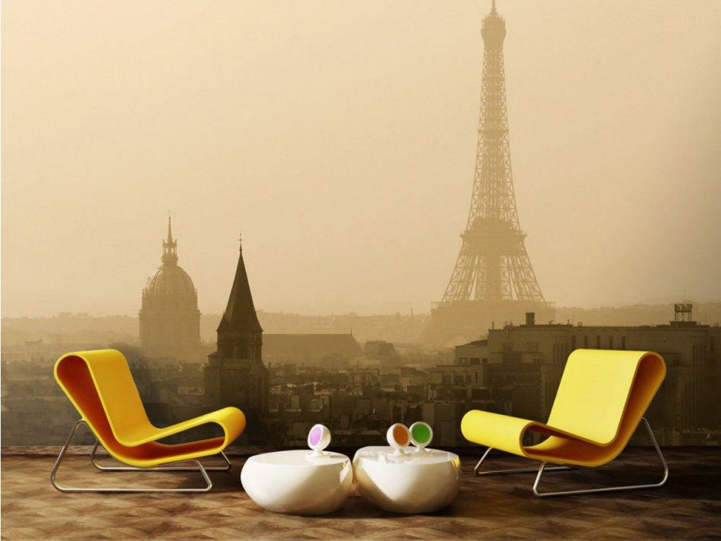 Mlha nad Paříží (Rozměry (š x v) a Typ 147x116 cm - samolepící)