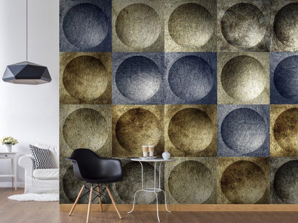 Moderní mozaika (Klasické tapety 49x1000 cm - samolepicí)