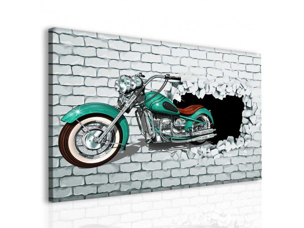 Moderní obraz - motorka (Velikost 120x80 cm)