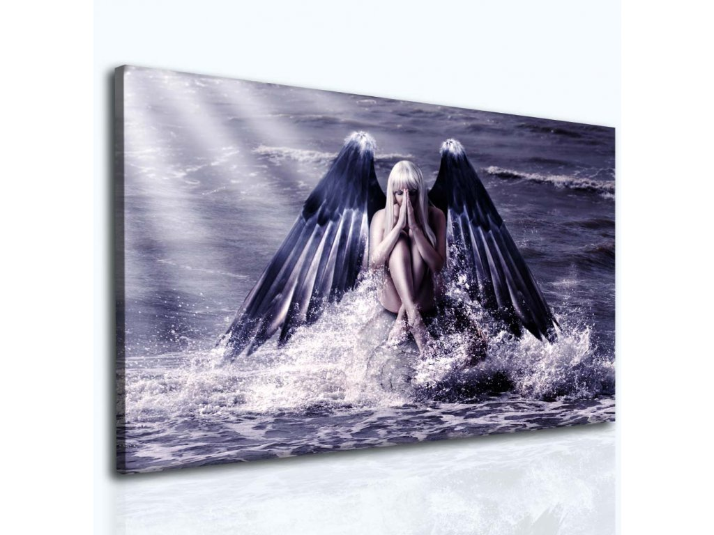 Modlitba andělům (Velikost 90x60 cm)