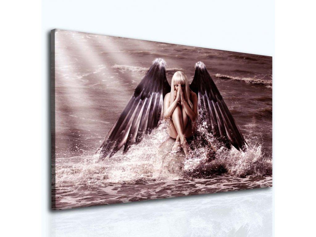 Modlitba andělům II (Velikost 90x60 cm)
