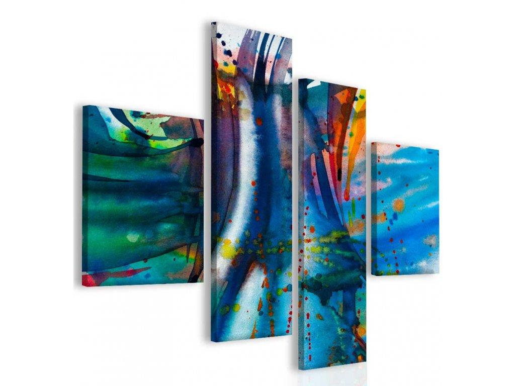 Modrá abstrakce (Velikost 110x90 cm)