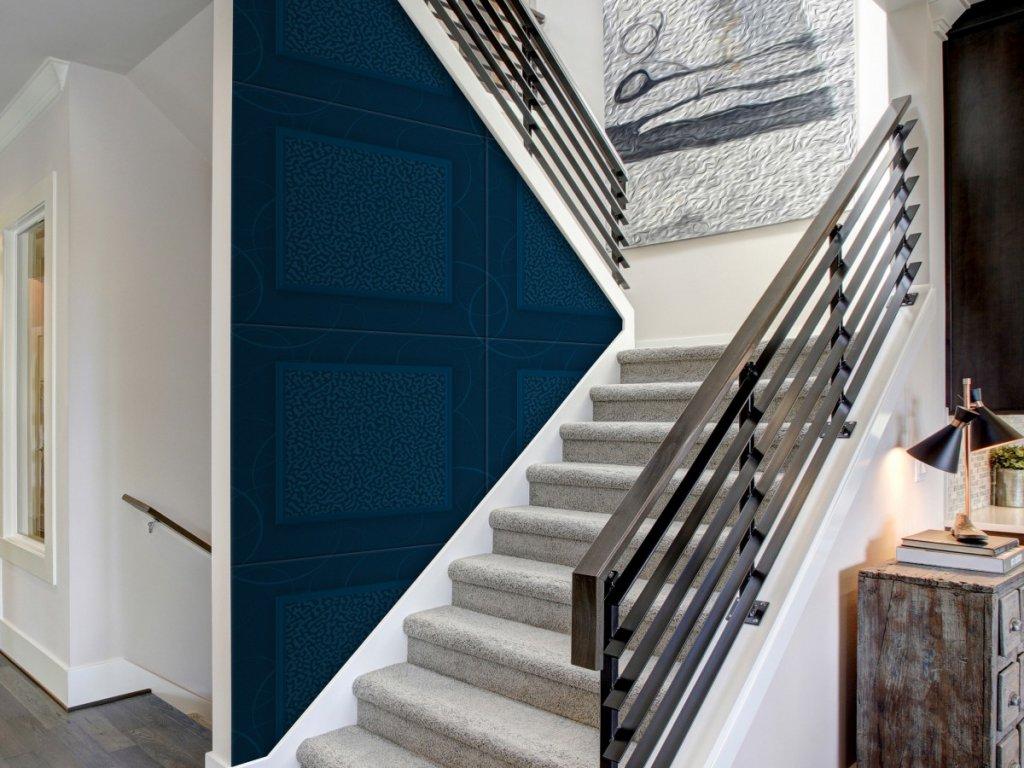 Modré kachle (Klasické tapety 49x1000 cm - samolepicí)