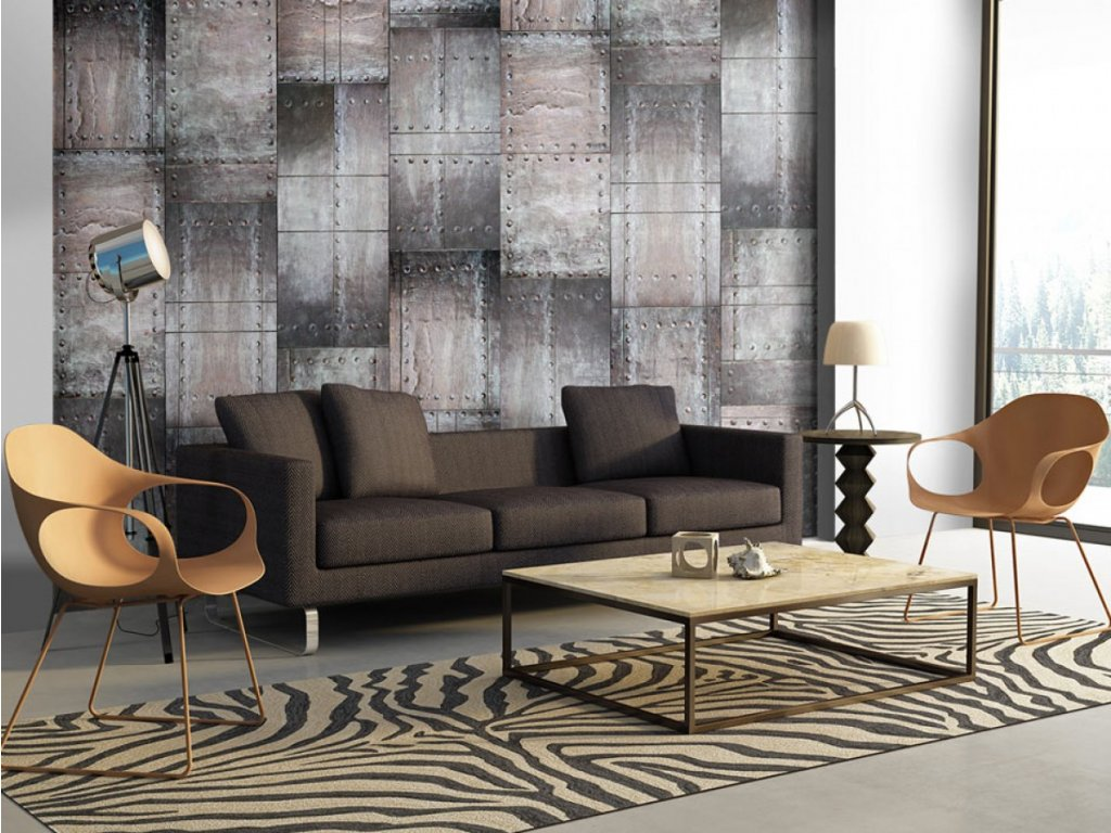 Mosazná stěna (Klasické tapety 49x1000 cm - samolepicí)