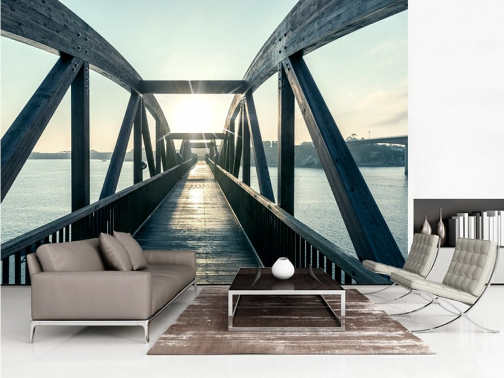 Most nad řekou II. (Rozměry (š x v) a Typ 147x105 cm - samolepící)