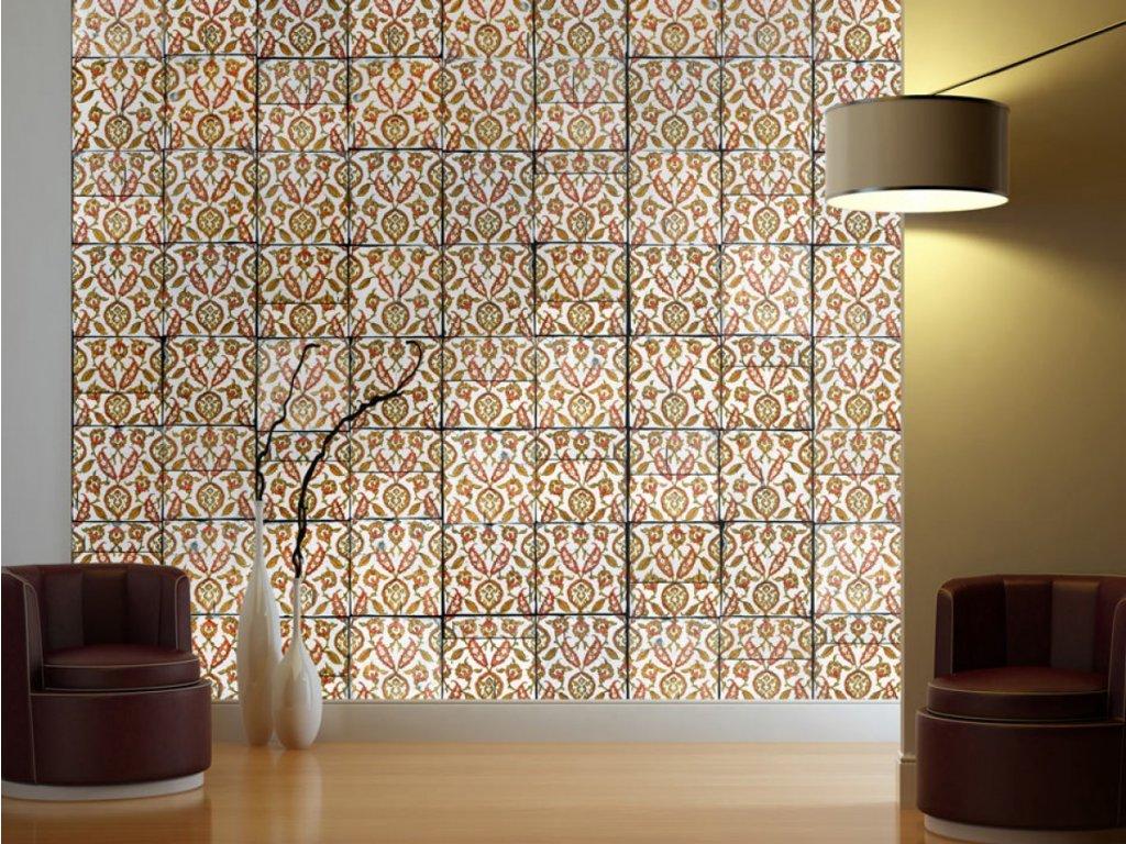 Mozaika v barvách rzi (Klasické tapety 49x1000 cm - samolepicí)