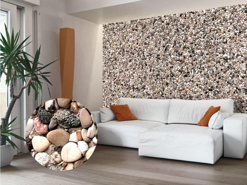Mozaika z kamínků (Rozměry (š x v) a Typ 147x105 cm - samolepící)